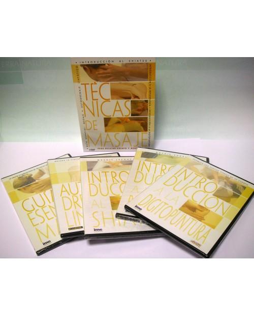 DVD. PACK TECNICAS DE MASAJE 5DVD